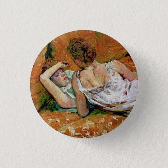The Two Friends Button - Henri de Toulouse-Lautrec