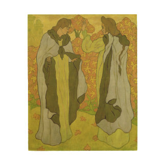 The Two Graces, 1895 Wood Wall Art