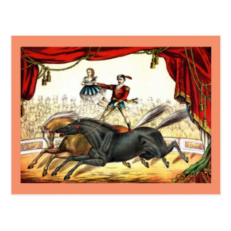 The Two-Horse Act 1874 Postcard