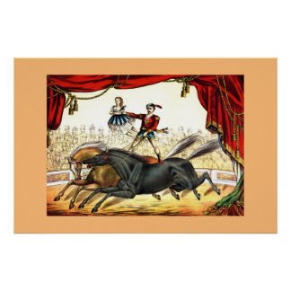 The Two-Horse Act 1874 Poster