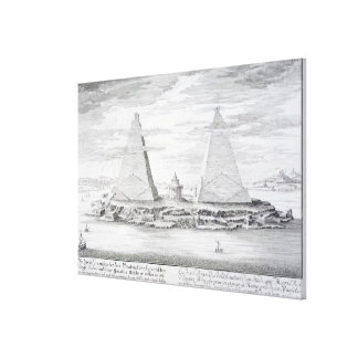 The Two Pyramids of Moeris, King of Egypt and his Canvas Print