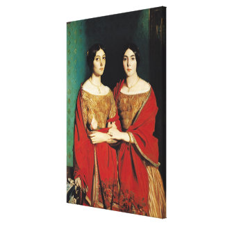 The Two Sisters, or Mesdemoiselles Chasseriau Canvas Print