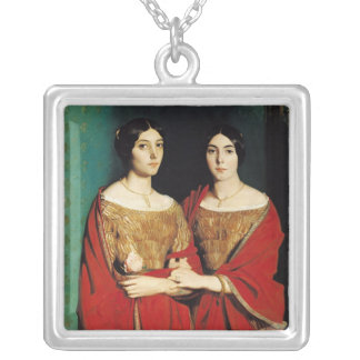 The Two Sisters, or Mesdemoiselles Chasseriau Silver Plated Necklace