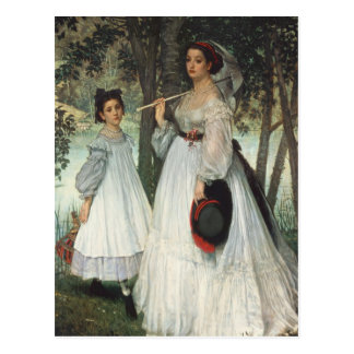 The Two Sisters: Portrait, 1863 Postcard
