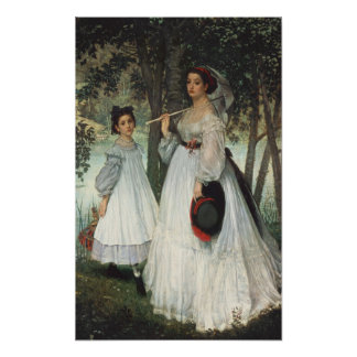 The Two Sisters: Portrait, 1863 Poster