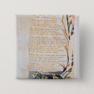 The Tyger, from Songs of Innocence 15 Cm Square Badge