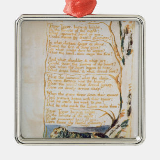 The Tyger, from Songs of Innocence Christmas Ornament