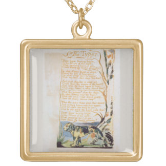 The Tyger, from Songs of Innocence Gold Plated Necklace