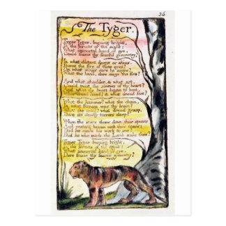 'The Tyger', plate 36 (Bentley 42) Postcard
