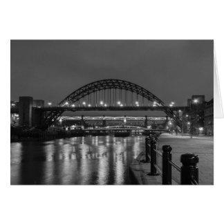 The Tyne Bridge at Night Greeting Card