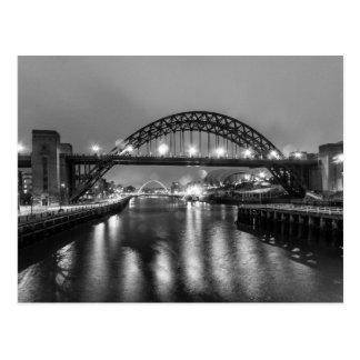 The Tyne Bridge at Night Postcard
