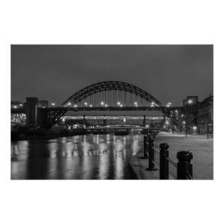 The Tyne Bridge at Night Poster