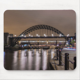 The Tyne Bridges at Night Mouse Mat