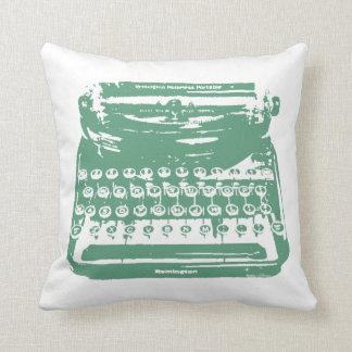 the typewriter - green cushion