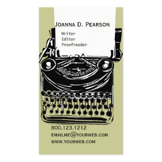 The Typewriter  Writer  Editor Click  CUSTOMIZE Pack Of Standard Business Cards