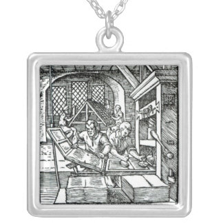 The Typographer, published by Hartman Schopper Silver Plated Necklace