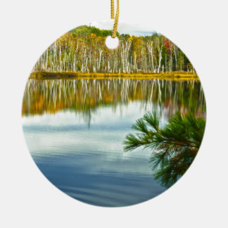 The U. P.: Autumn Birch Tree Reflections Christmas Ornament