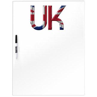 The UK Union Jack British Flag Typography Elegant Dry Erase Board