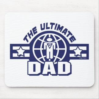 The Ultimate Dad Logo Gear Mouse Pad