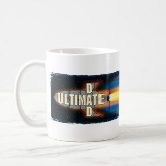The Ultimate Dad Rocket Ship Man Basic White Mug