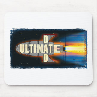 The Ultimate Dad Rocket Ship Man Mouse Pad