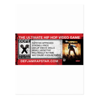 The Ultimate Hip-Hop Video Game Postcard