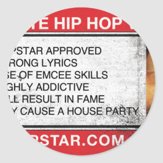The Ultimate Hip-Hop Video Game Round Sticker