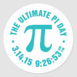 The Ultimate Pi Day 2015 Round Stickers