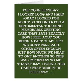 The Ultimate Sentimental Birthday Message (Gin) Card
