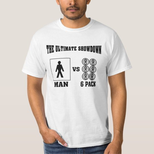 The Ultimate Showdown Man VS 6Pack T-Shirt
