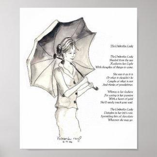 The Umbrella Lady Print