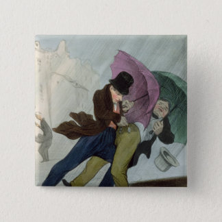The Umbrella Trip, from 'Flibustiers Parisiens' 15 Cm Square Badge