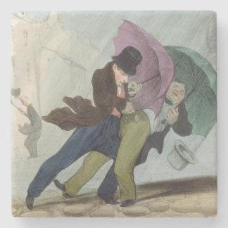 The Umbrella Trip, from 'Flibustiers Parisiens' Stone Coaster