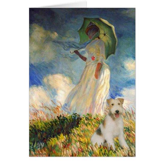 The Umbrella - Wire Fox Terrier (M) Card