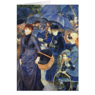 The umbrellas by Pierre Renoir Card