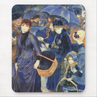 The umbrellas by Pierre Renoir Mouse Mat