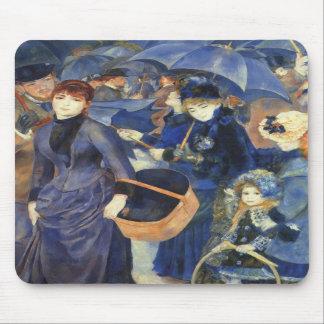 The umbrellas by Pierre Renoir Mouse Pads