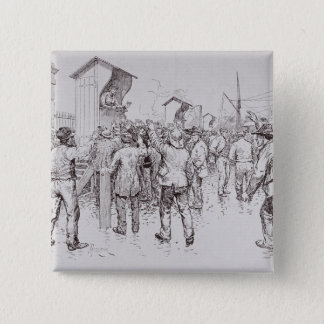 The Unemployed of London 15 Cm Square Badge