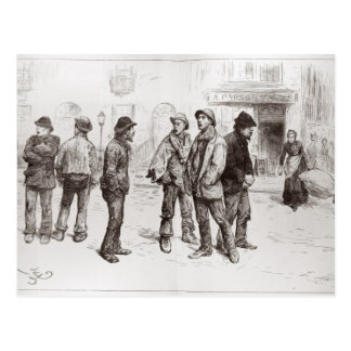 The Unemployed of London 2 Postcard