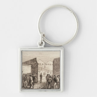 The Unemployed of London Silver-Colored Square Key Ring