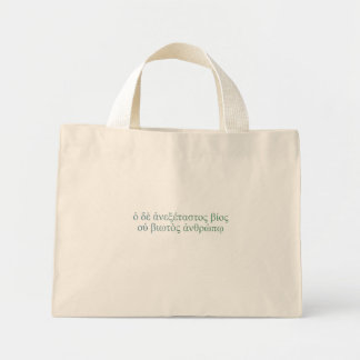 The Unexamined Life Mini Tote Bag