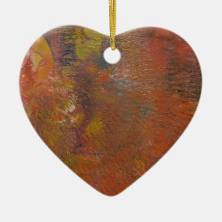 The Unforming Star Ceramic Heart Decoration