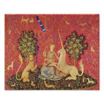 The Unicorn and Maiden Mediaeval Tapestry Image