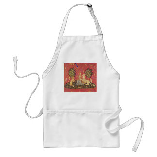 The Unicorn and Maiden Medieval Tapestry Image Standard Apron