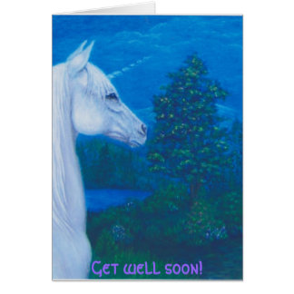 "The unicorn ""Get well"" greeting card"