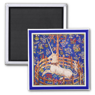 """The Unicorn in Captivity"" Square Magnet"