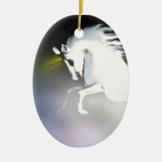 The Unicorn in the Mist Ceramic Oval Decoration