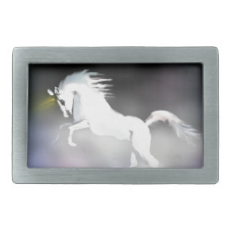 The Unicorn in the Mist Rectangular Belt Buckle