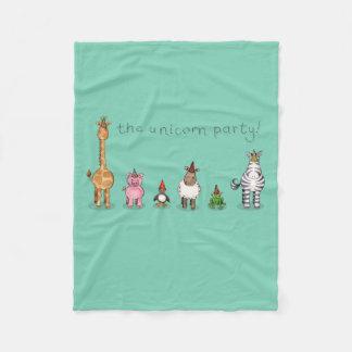The Unicorn Party Fleece Blanket