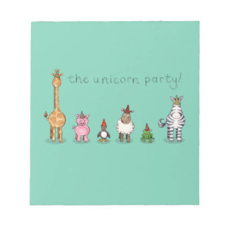 The Unicorn Party Notepad